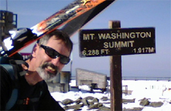 Bryan Reilly at the top of Mt. Washington