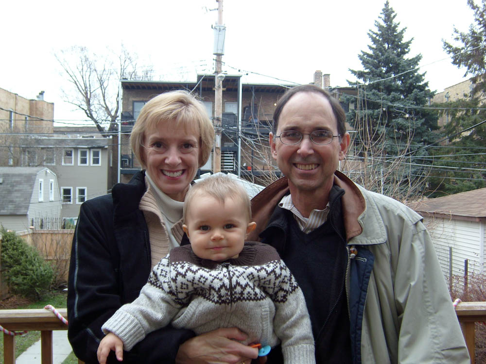 Jim & Kathleen Bond with their grandson, James