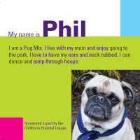 Pawprints' Phil even has his own calling card.
