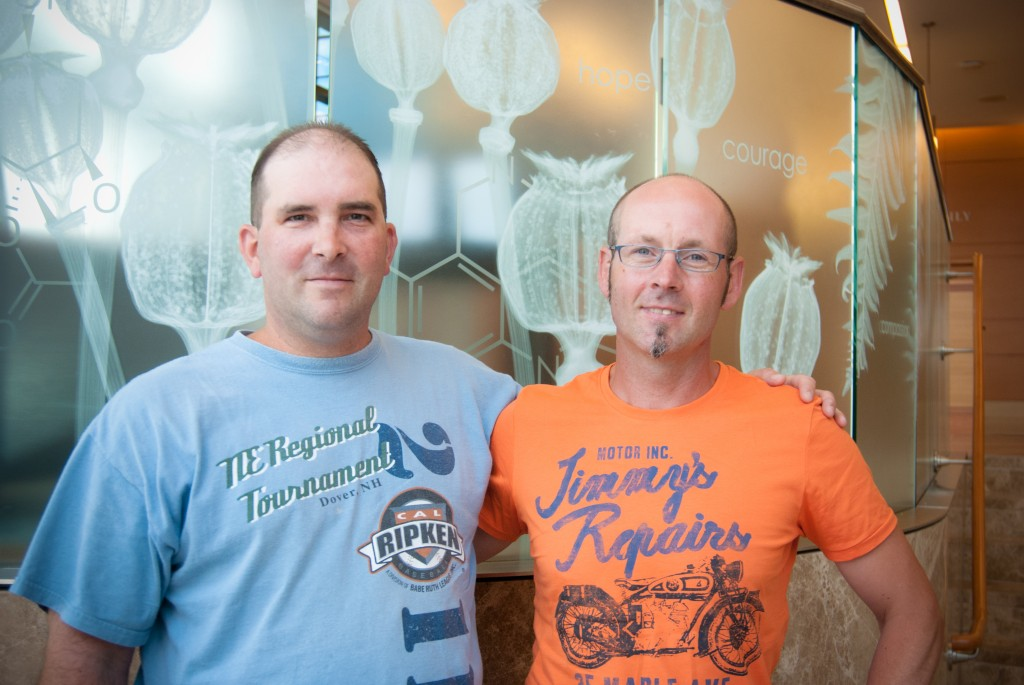 Craig Johnson (left) with stem cell donor Janssen