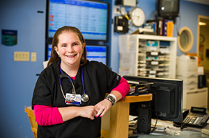 DF/CHCC pediatric oncology nurse Lindsay Roache, RN, chose nursing after her own experience as a patient.