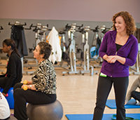 Exercise physiologist Nancy Campbell holds classes for cancer patients.