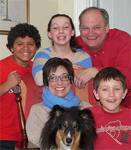 Maria Pearson with her family
