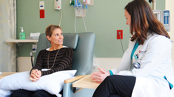 A breast cancer patient talks about preparing for her first chemotherapy.