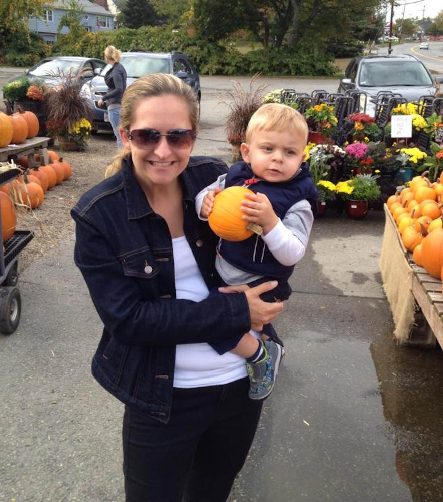 Lyndsay McCaffery and her son,