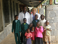 Lori Buswell helped staff at Butaro Hospital in Rwanda improve their cancer program for children and adults.
