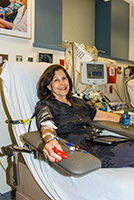 Baila Janock has donated platelets to benefit cancer patients more than 200 times.