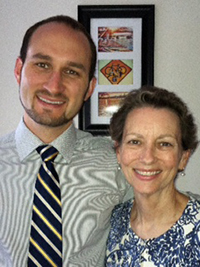 Martha Laperle with her son, Ryan