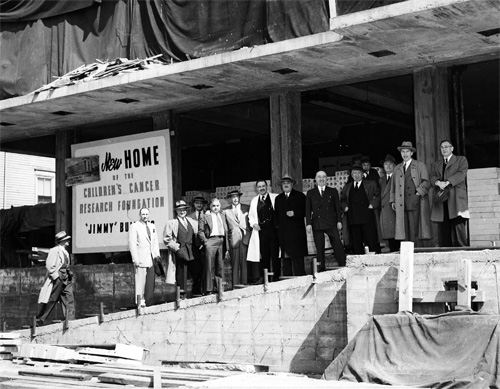 Sidney Farber at new building site