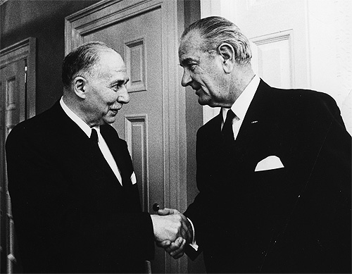 Sidney Farber and President Johnson