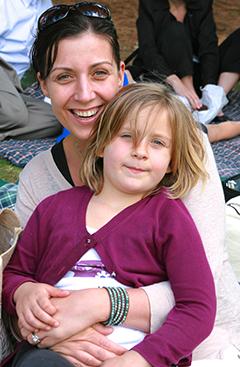 Julia Pettingill and her daughter, Sophie