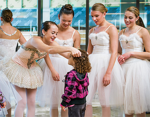 ballet dancers at the Yawkey Center