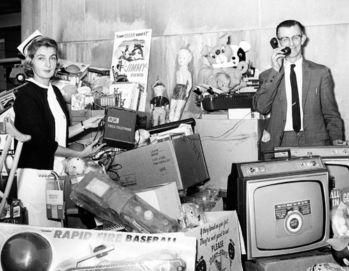 presents donated to Dana-Farber in the 1960s