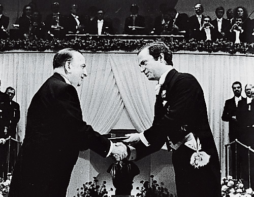 Baruj Benacerraf, MD, receiving the Nobel Prize
