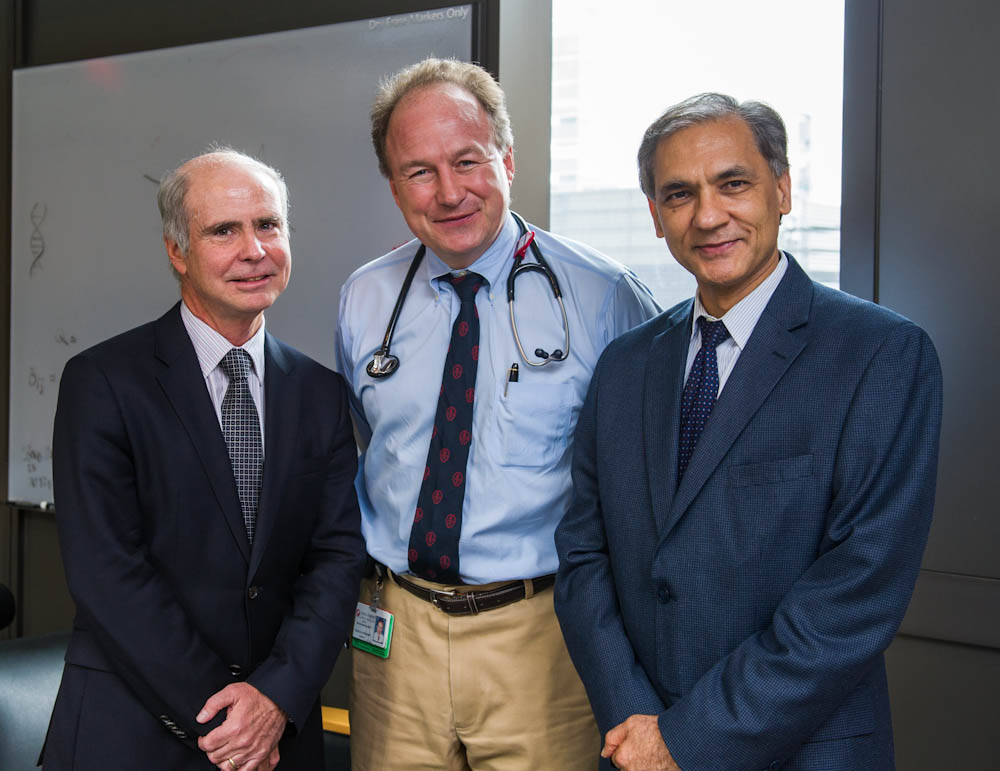 (From L-R) Ken Anderson, MD, Paul Richardson, MD, and Nikhil Munshi, MD