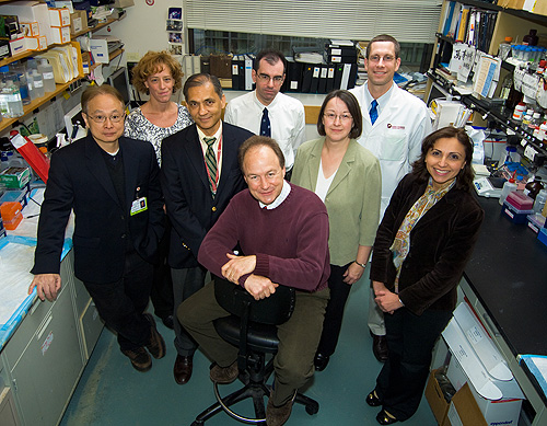 Paul Richardson, MD, and lab members