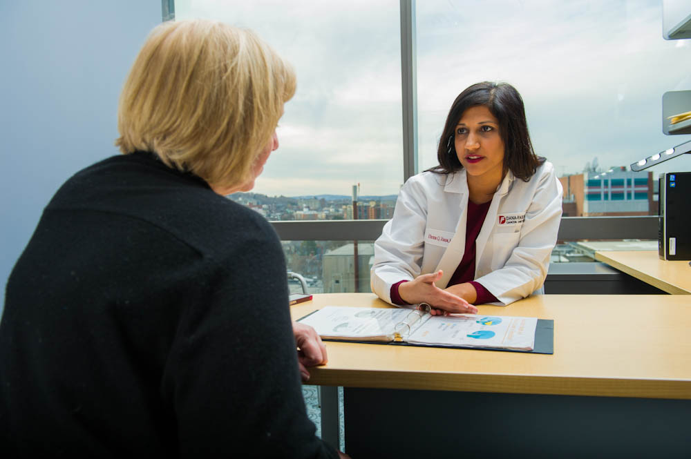 Huma Rana, MD, counsels patients on their genetic history and cancer risk.
