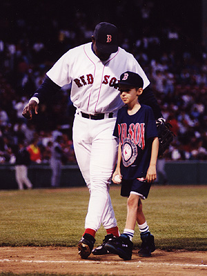 Mo Vaughn with Jason Leader