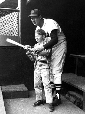 Ted Williams with boy