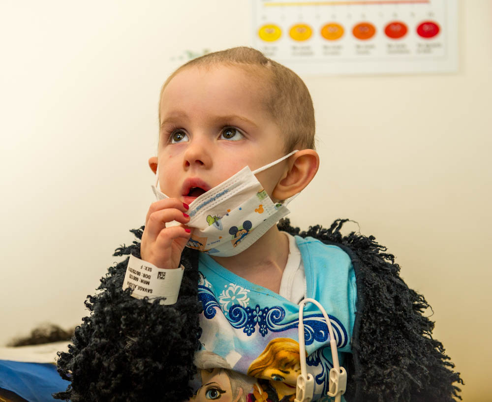 Alisha Savage, a 4-year-old pediatric brain tumor patient, has traveled with her family from Ireland to be treated at Dana-Farber/Boston Children's.
