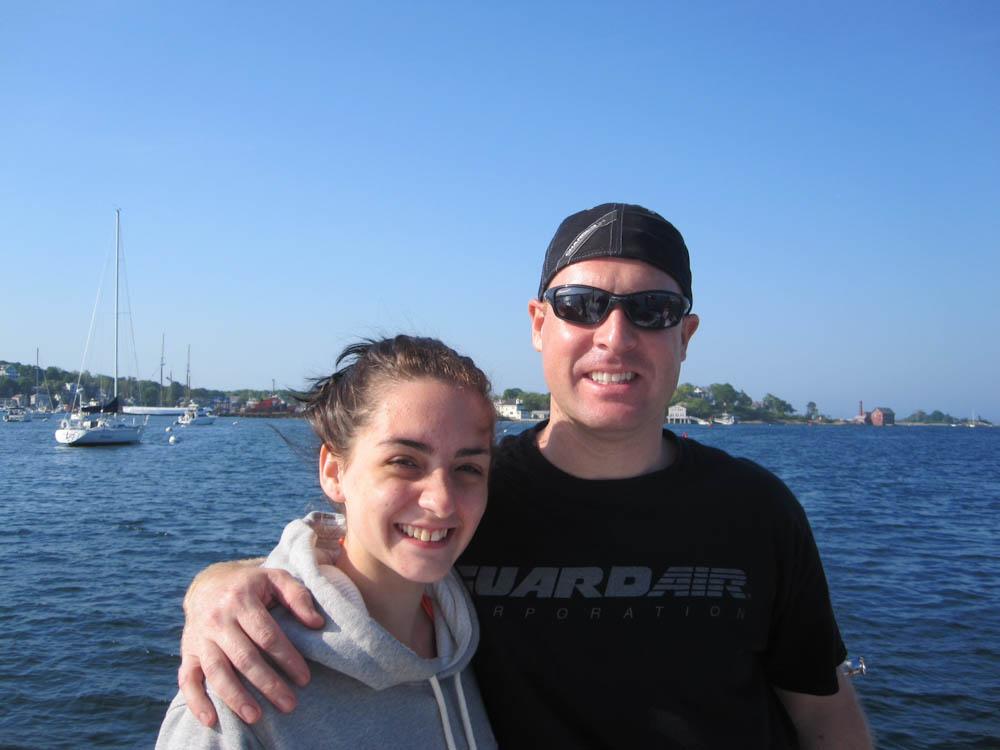 Jenn's Husband, Bert, and oldest daughter, Samantha