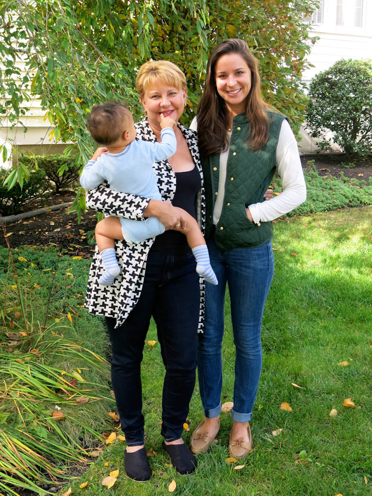 Lise (left) and Sami Pass with the family's latest foster son.