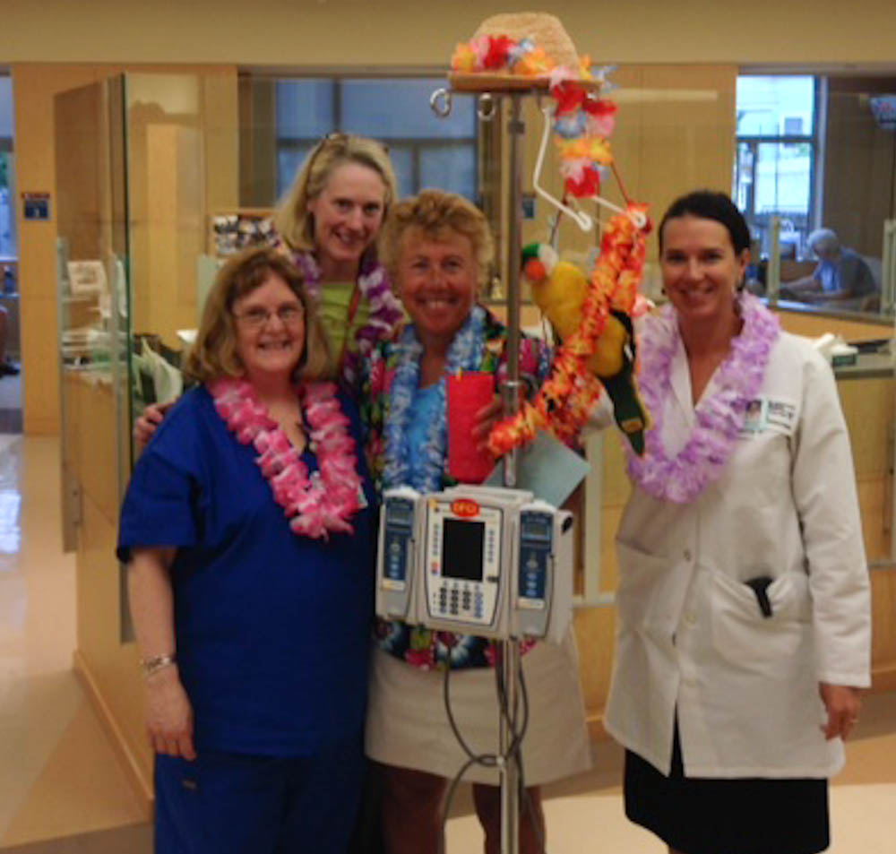 "Cheryl brings ""Hawaiian Day"" to the clinic"