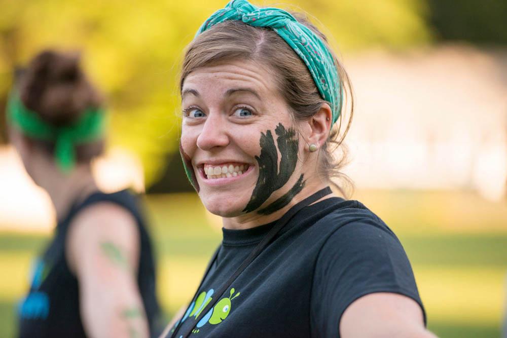Erin having some fun at Camp Kessem