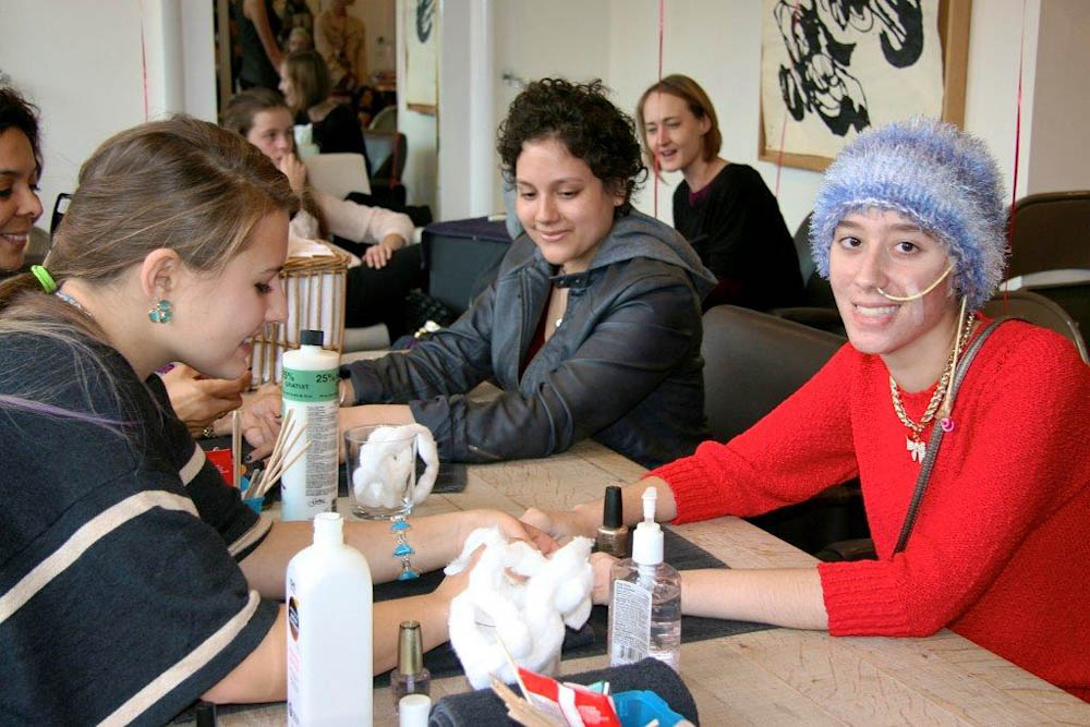 For everyone involved with the event, the weekend also included manicures and makeovers at Pini Swissa Salon on Newbury Street in Boston.