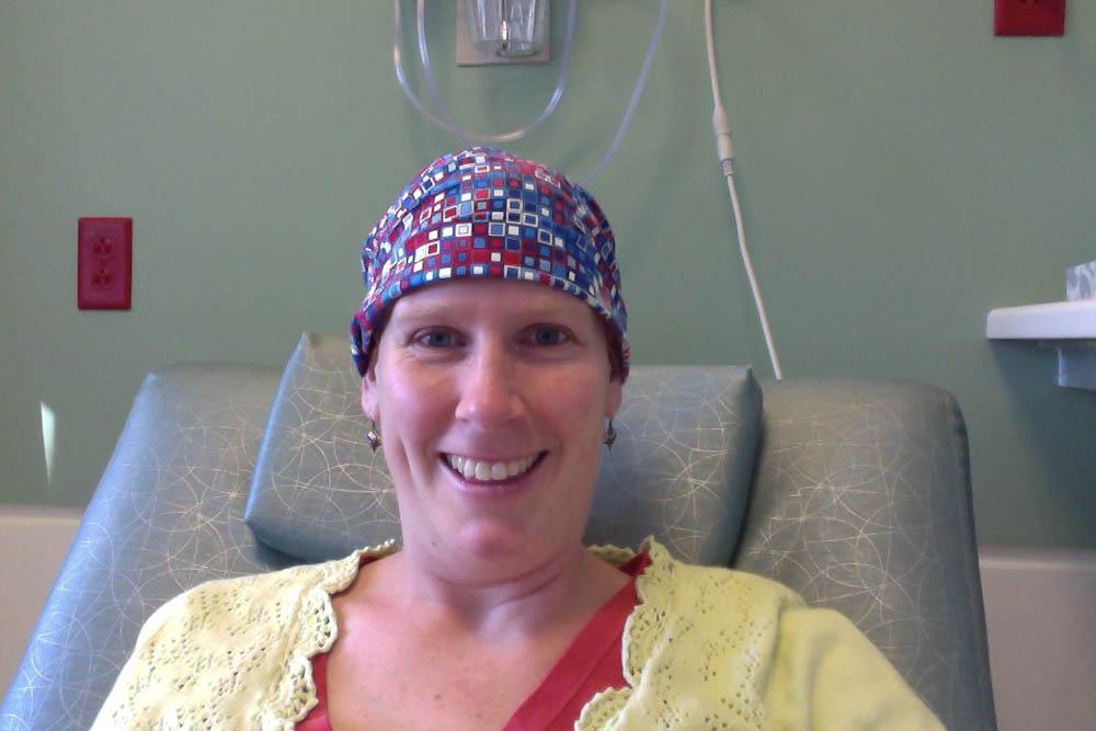 Katie keeping a smile through treatment