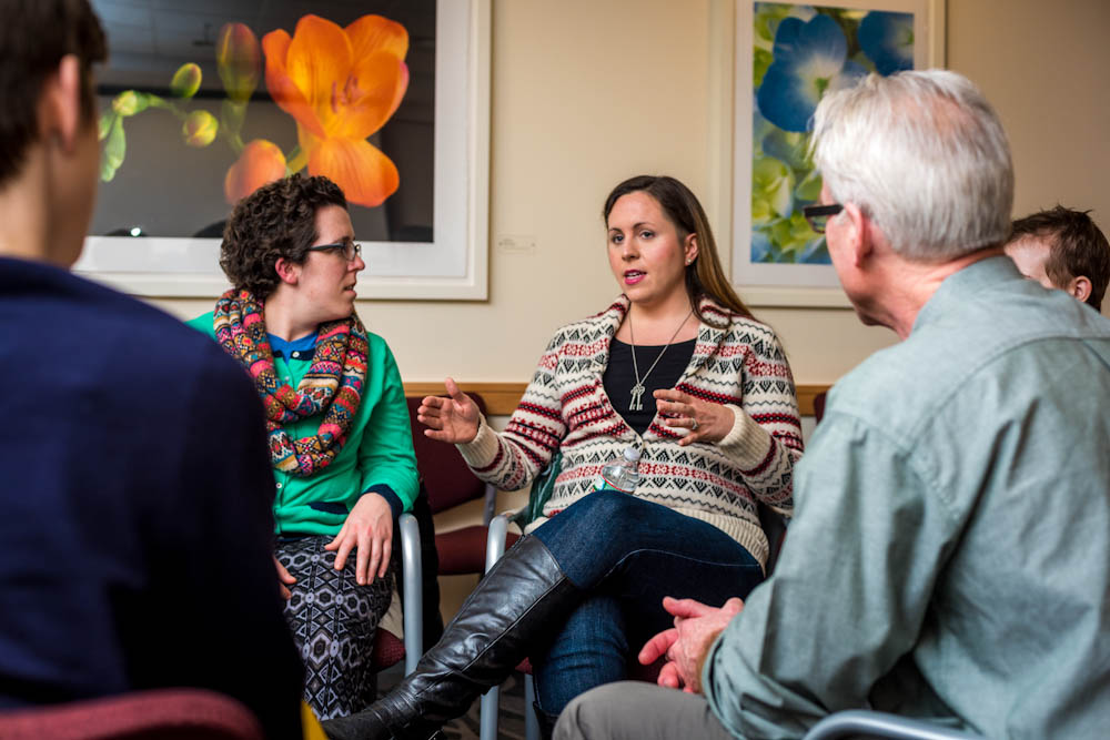 A Dana-Farber support group for young adults with cancer.