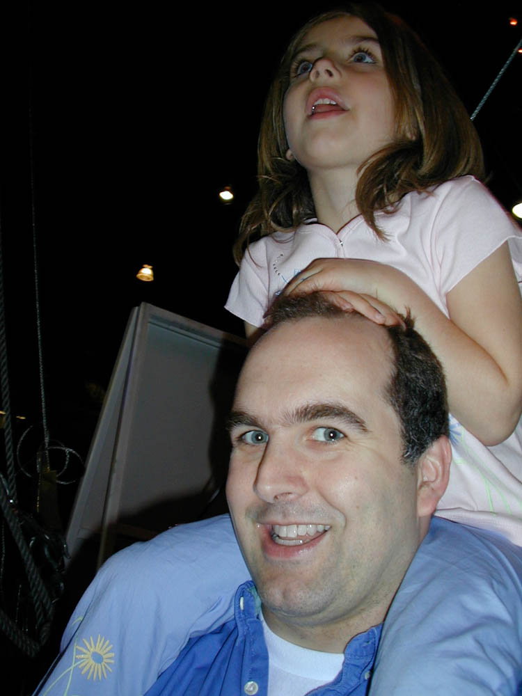 A young Elise and her dad, Steven