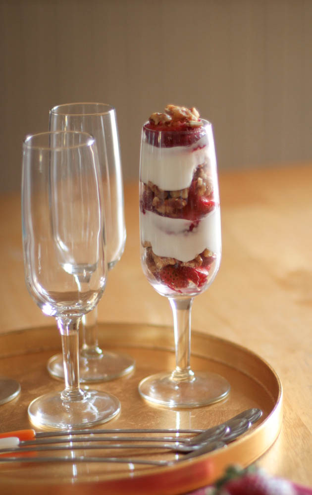 Yogurt can help with digestive issues, such as XX. Try using it in a healthy fruit parfait.