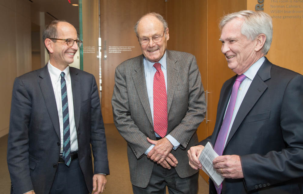 (From L-R) George Demetri, MD, David Nathan, MD, and Dana-Farber President and CEO Edward J. Benz, Jr., MD