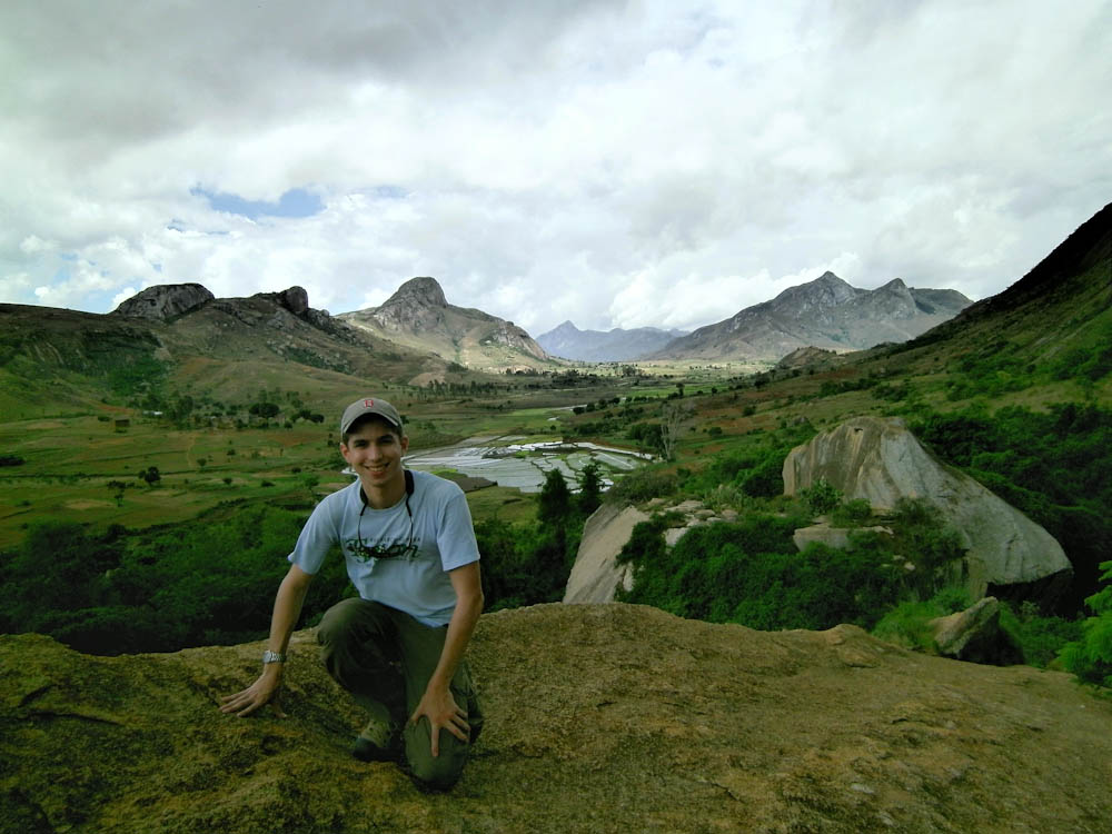 Jeremy traveling in Madagascar.