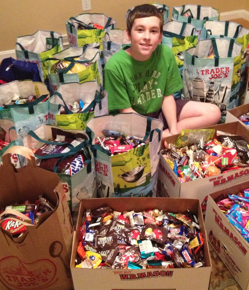 halloween, candy, donation