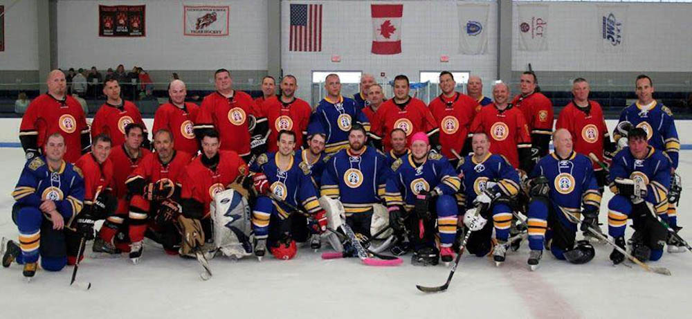 A charity hockey game was held to raise support for Evan.