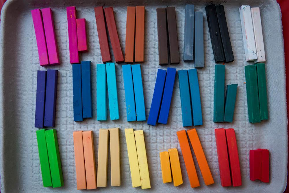 pastels, expressive arts
