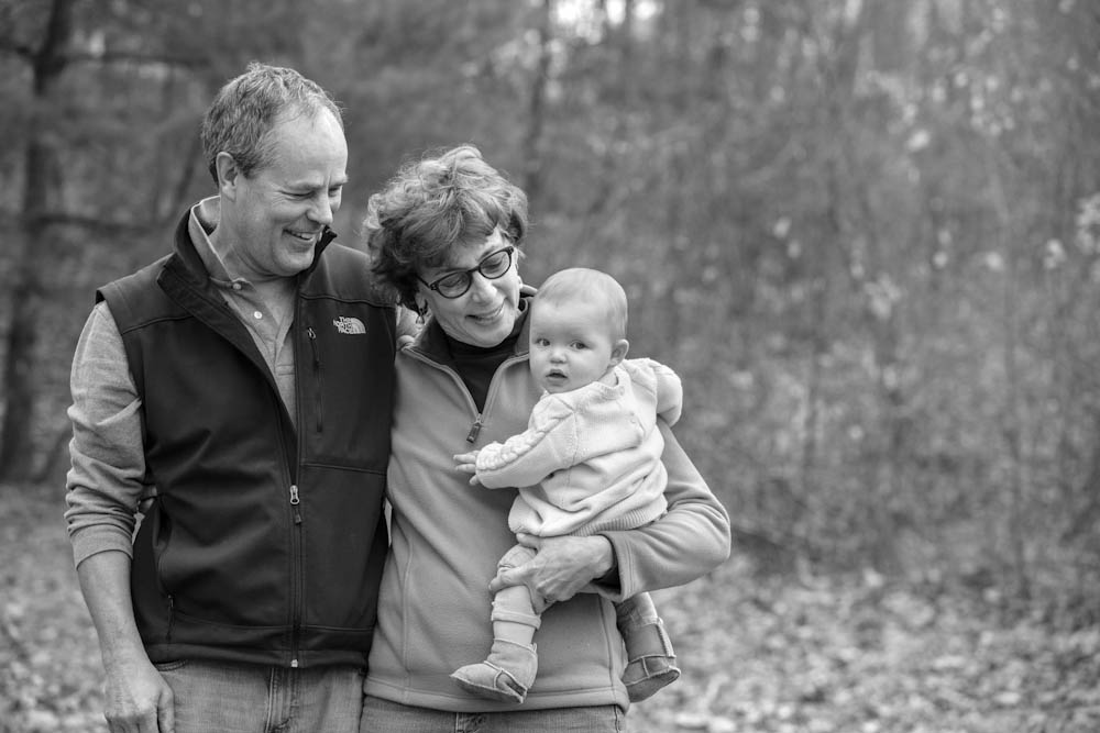 Faye with her husband and granddaughter.