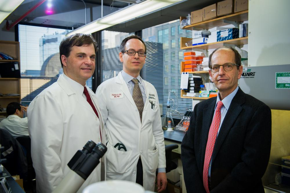F. Stephen Hodi, MD, Patrick Ott, MD, PhD, and George Demetri, MD, from Dana-Farber's Center for Immuno-Oncology.