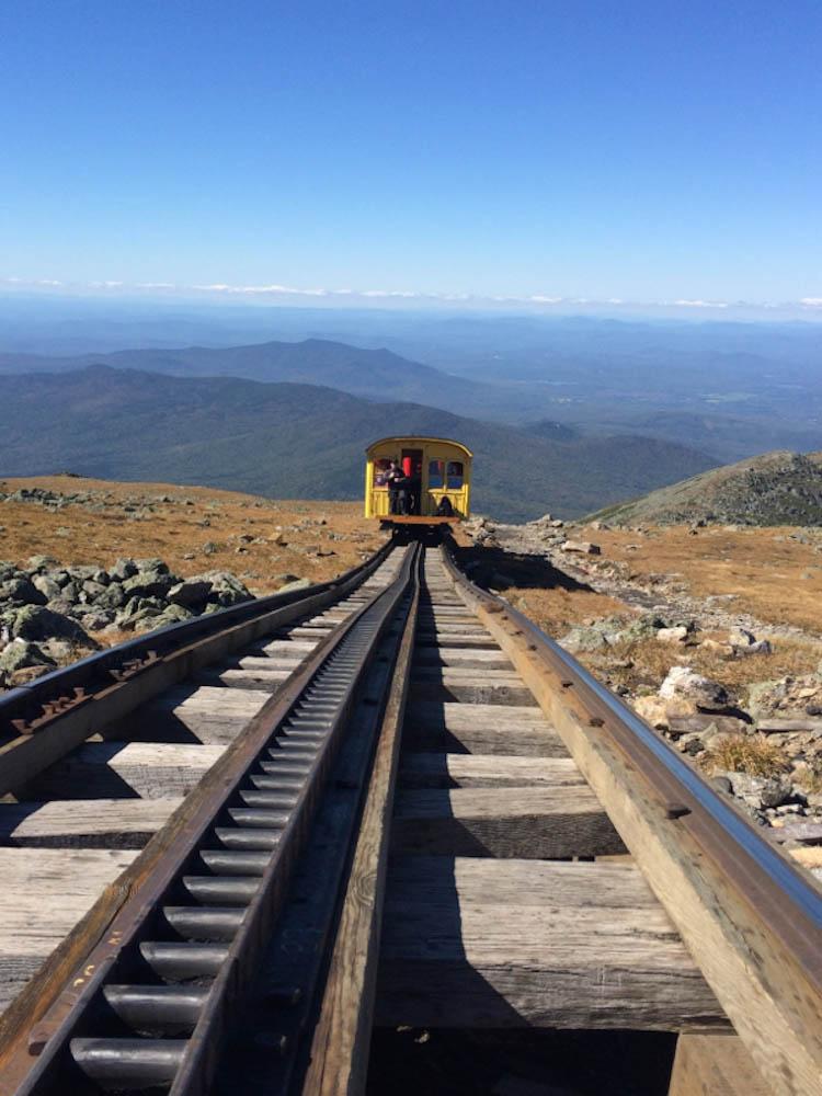 Phil Daley hike, cog railway, mt washington