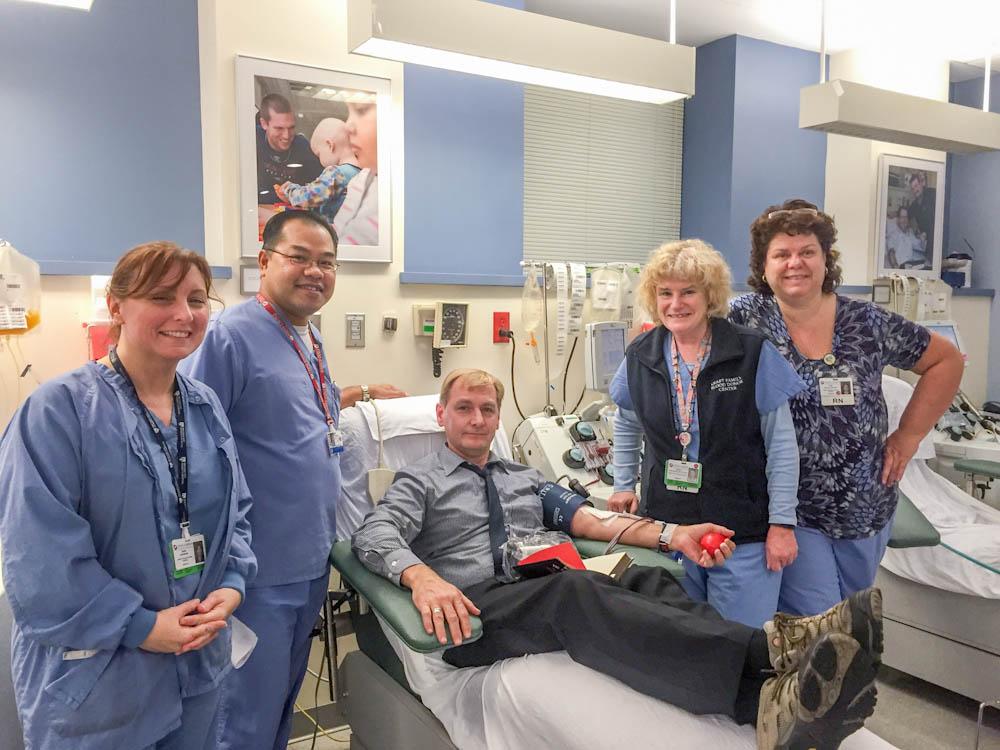 Tim Maxton platelet donation