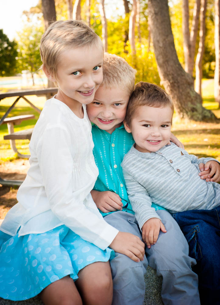 The Kindstedt children: Amy, Thatcher and Hunter.