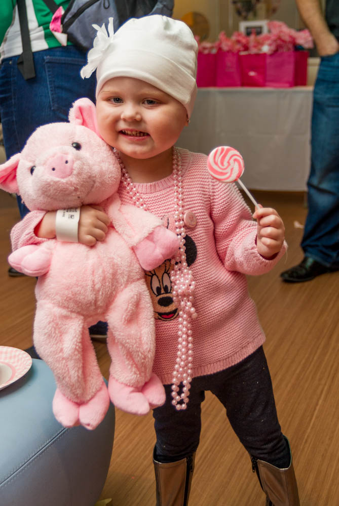 Pig Day at the Jimmy Fund Clinic.