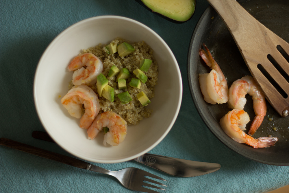 Ginger Avocado Shrimp bowl