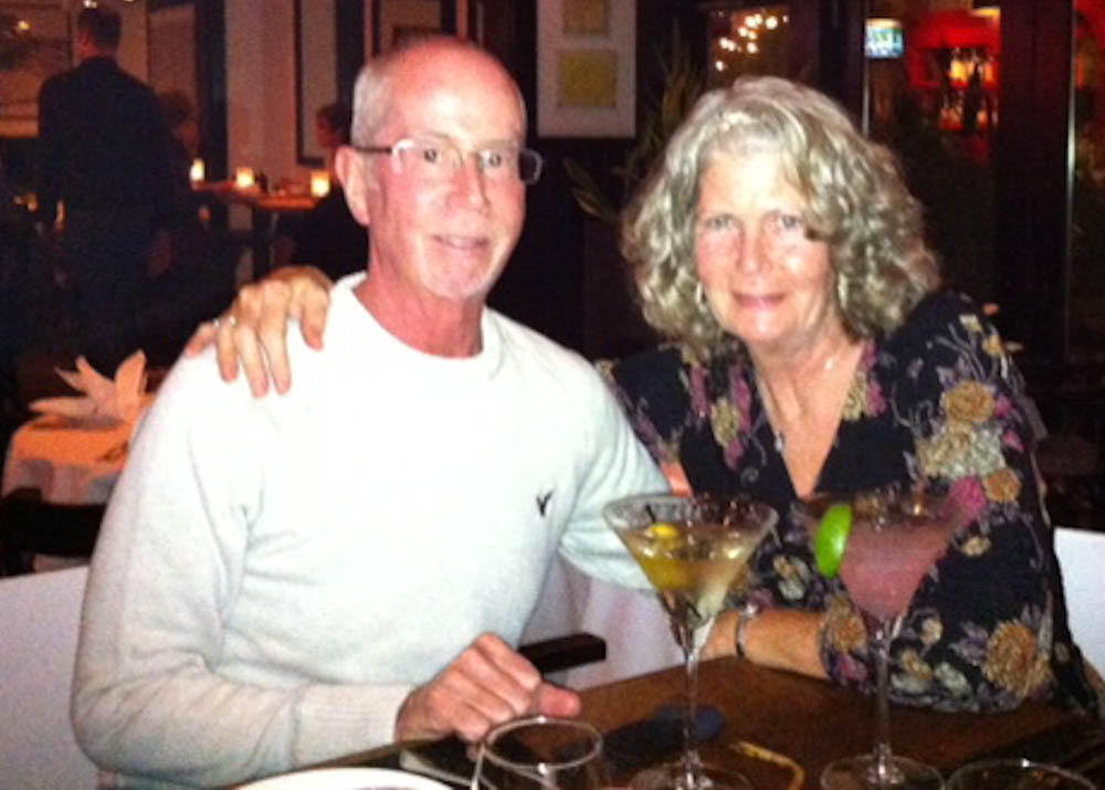 Bob and his wife, , on a trip to Las Vegas.