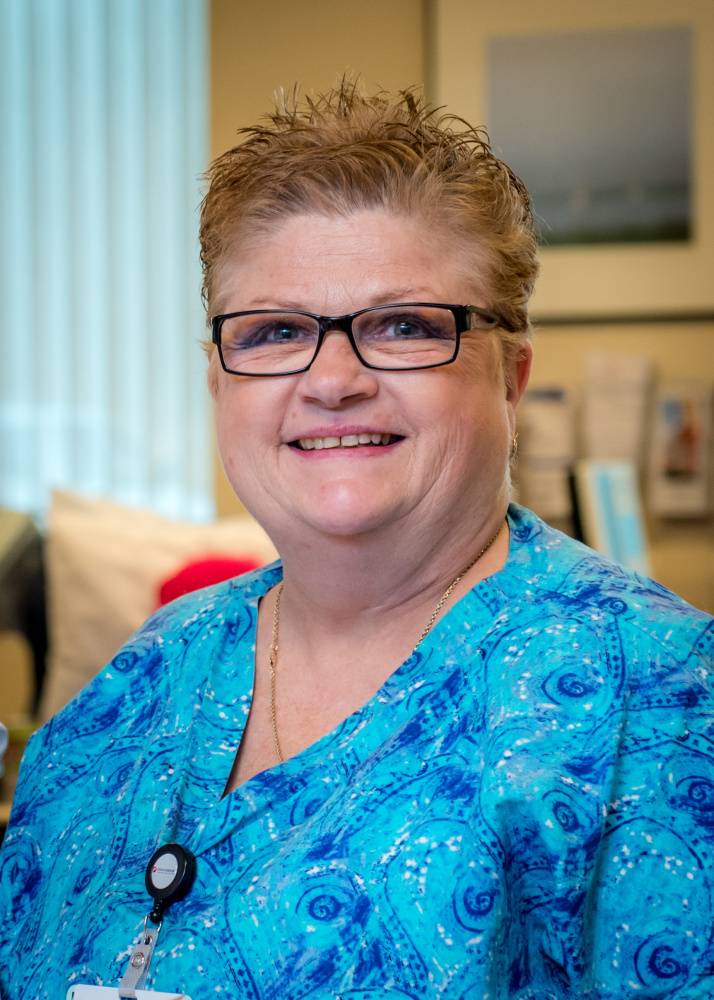 Jane Goldie, RN, a nurse with Dana-Farber Community Cancer Care in Weymouth, Mass.
