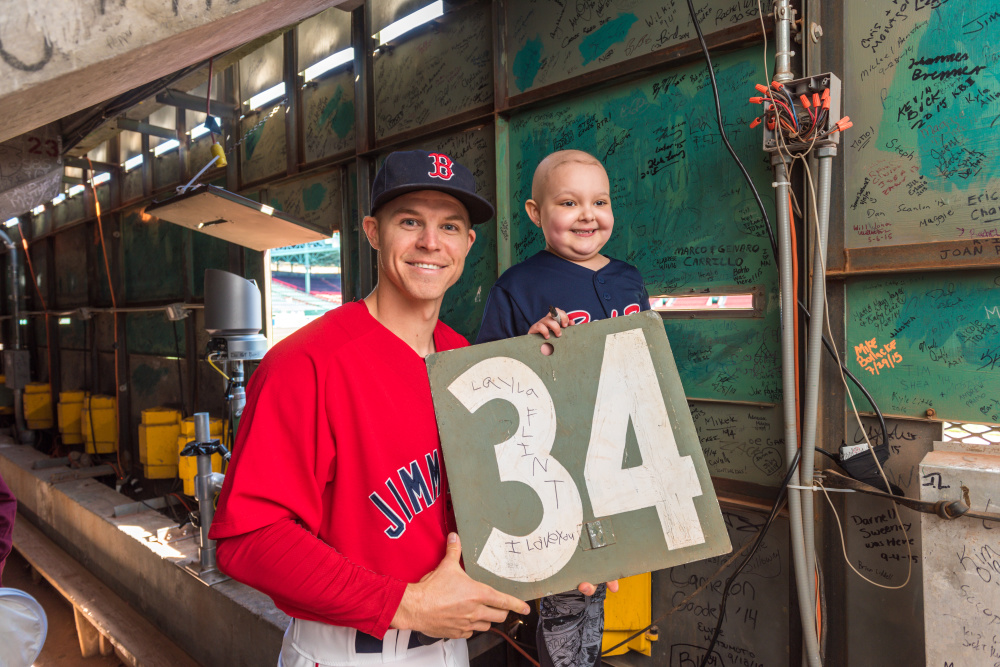 Layla and Brock inside Green Monster