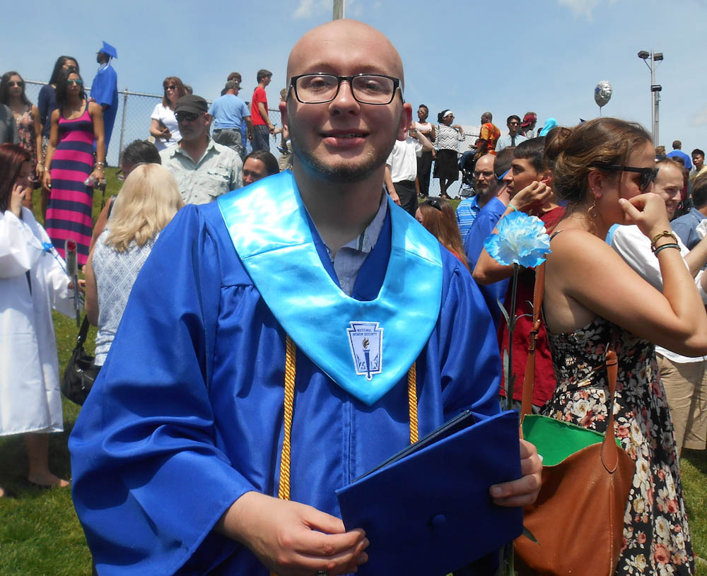 Jake at graduation