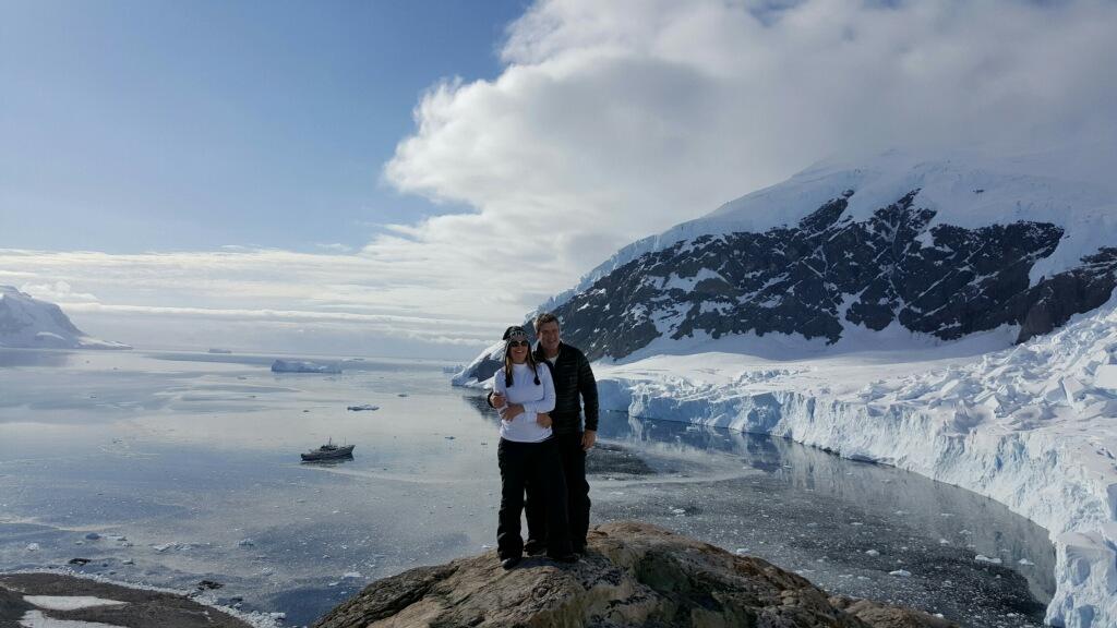 Ovarian cancer patient in Antarctica